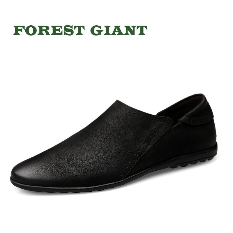 f2a3c571c5b ... forest giant men genuine leather flats handmade casual shoes men for ...