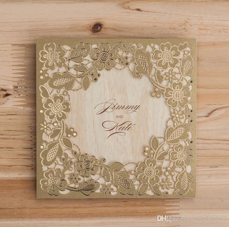 Auguri Matrimonio Amici : Acquista biglietti dauguri 3d card invita gli amici cartolina oro