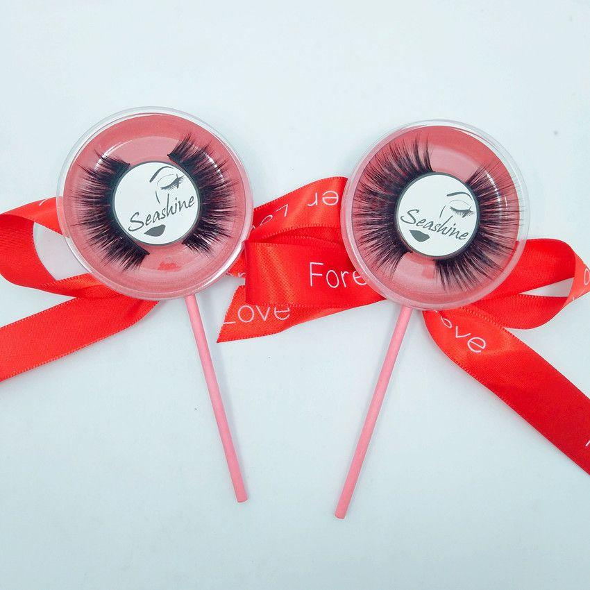Fashion Lollipop Women False eyelashes Full Strip make eyelash more have stereo feeling lightsome 3D Mink roll become warped