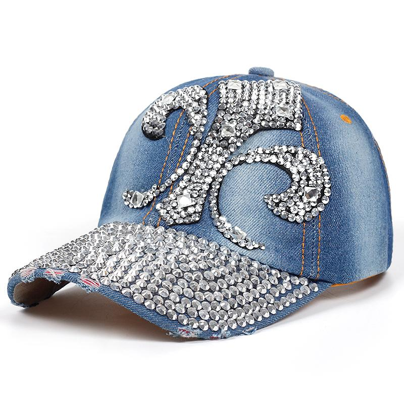 b92ded07d4 Women Hat Baseball Caps Studded Casual Baseball Cap Lady Cowboy Hat Fashion  Hot Sale Autumn And Winter New High Quality The Game Hats Baby Caps From ...