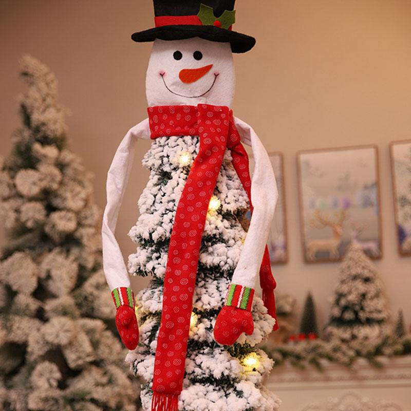 Snowman Christmas Tree Topper New Year Fairy Top Hat Christmas Tree Decoration Festival Party Xmas Scarf Navidad 2018 Ywhb05