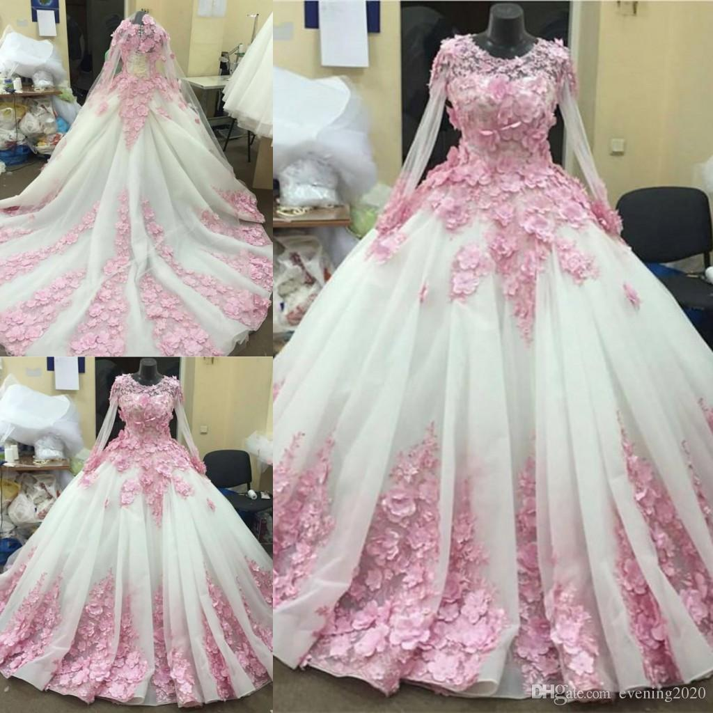 286a250861e Romantic Organza Ball Gown Quinceanera Dresses Jewel Long Sleeves Appliques  Sweep Train Evening Dresses Custom Made Prom Dresses Dark Purple Quinceanera  ...