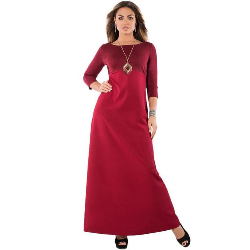 9fad03e0da37 Großhandel Shiny Plus Size 6XL Langes Kleid New Patchwork Maxi Kleid Große  Größe Blau Robe Kleidung 2018 Elegante Damen Abend Party Von Lbdapparel, ...