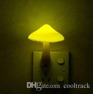 Led Night Lights Novelty Led Mushroom Night Light Sensor Led Pir Motion Detector Sleep Home Bedroom Bedside Lamp White Nightlight Kid Gift Lights & Lighting