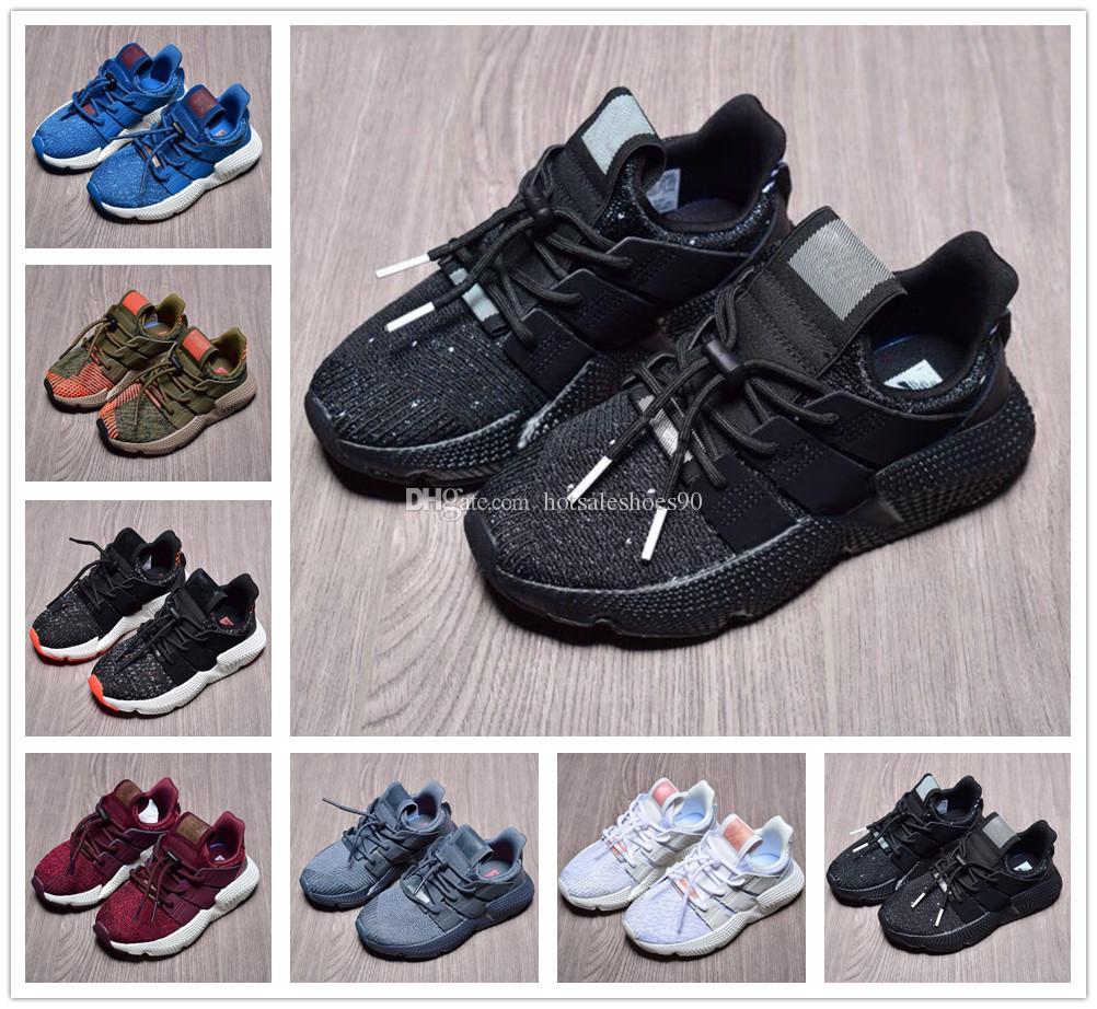 sports shoes 620c3 ed32a Compre Adidas Prophere EQT Alta Calidad Niño Pequeño Niñas EQT 4 Zapatos  Casuales Niños Niños Moda Prophere Climacool Todos Blanco Negro Niños EQT 4  Jogging ...
