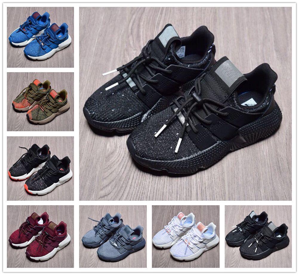 cheap for discount 03eb0 c94f7 Adidas Prophere EQT Di alta qualità Toddler Ragazzi Ragazze EQT 4 Scarpe  Casual Bambini Infantili Moda Proposta Climacool Tutti Bianco Nero Bambini  ...