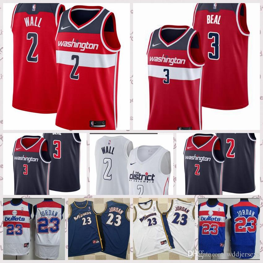 4b642e9b3 2019 Top Men 2018 Newest Washington Wizards Jerseys 2 John Wall 3 Bradley  Beal Jerseys White Blue Red From Wddjerseys