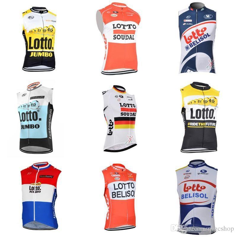 LOTTO Team Cycling Sleeveless Jersey Vest Breathable Tops Bicycle Riding  Clothes Mountain Bike Stylish Cycling Gear Cycle Shorts Castelli Bib Shorts  From ... cb1d86d56