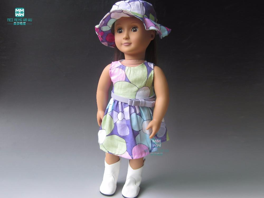 Clothes for dolls T-shirt, shorts, vest, pantyhose for 45cm American girl and Zapf baby born doll accessories