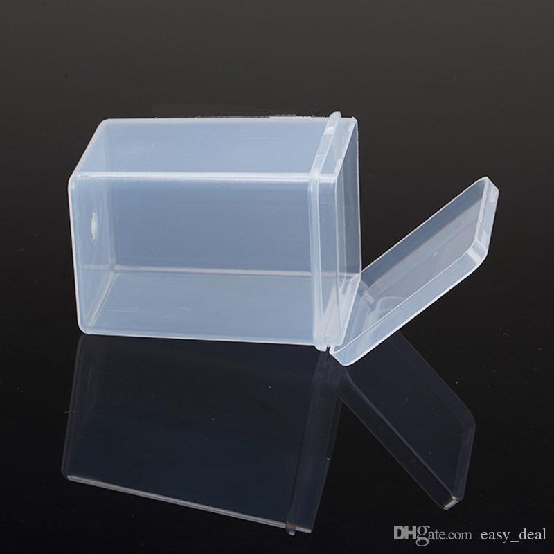 Transparente quadratische Kunststoffboxen, Verpackungsaufbewahrungsbox, mit Deckel für Schmuckschatulle Zubehör Batteriefach F20173138