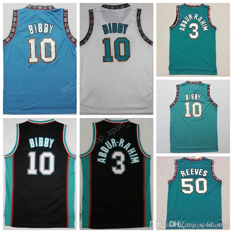 04189e55b396 2019 Men 3 Shareef Abdur Rahim Jersey Abdur Rahim Old Vancouver 10 Michael  Mike Bibby 50 Bryant Reeves Basketball Jerseys Green Turquoise PRO From  Lifastore ...