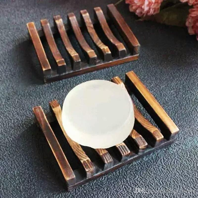 Wooden Handmade Soap Dish Soap Tray Holder Bathroom Soap Holder Bath Storage Rack Wood Plate Soaps Dish Container Wholesale YFA234