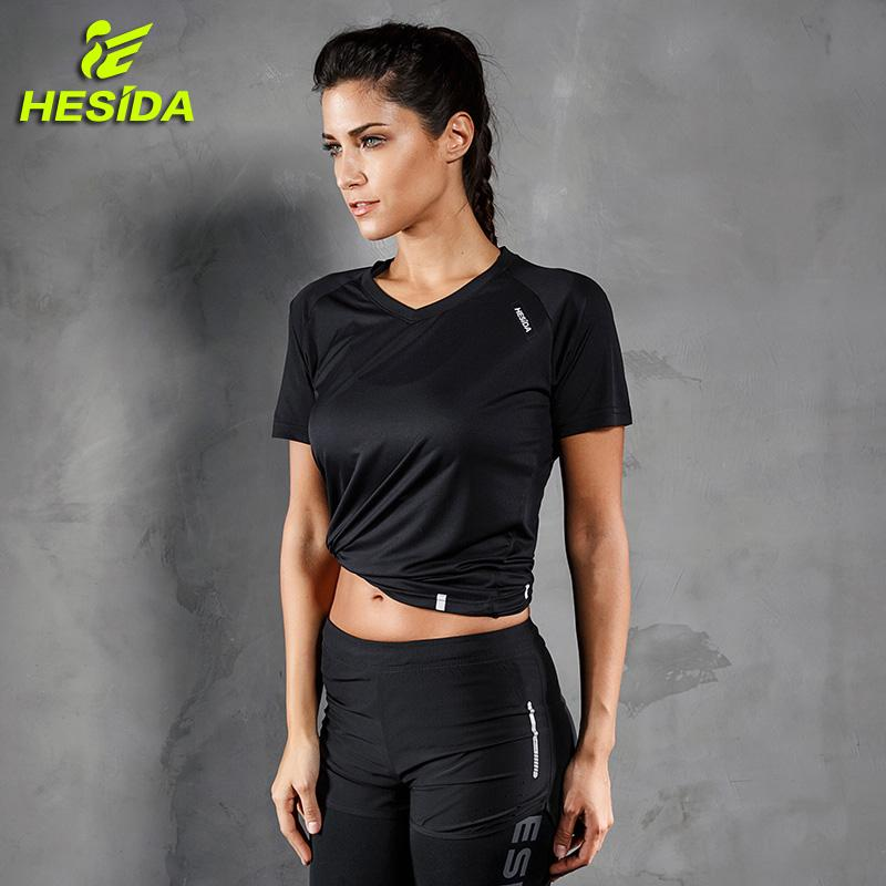 e2341c5cd 2019 Running T Shirt Women Quick Dry Breathable Yoga Sports Fitness  Clothing Female Sportswear Gym Wear Short Sleeve Workout T Shirt From Stem,  ...