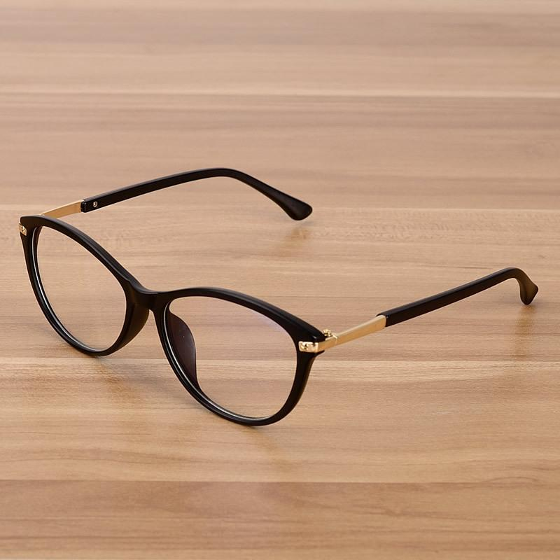 Großhandel Retro Brillen Optische Rahmen Klare Linse Gläser Schwarz ...