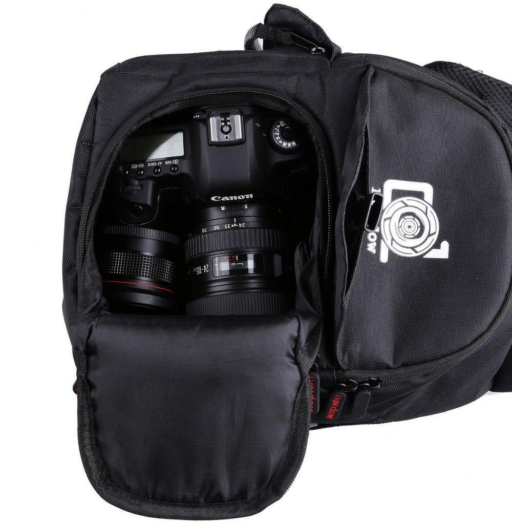 Lightdow Waterproof Outdoor Camera Photo Bag Multi-functional Camera Shoulder Backpack Trip Photographic bag for Canon Nikon DSLR Cameras