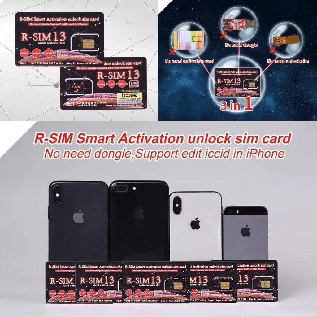 RSIM13 Perfect Unlcok IOS12 RSIM 13 Smart Activation Unlock SIM Card ICCID  Unlcoking RSIM13 For Iphone IOS12 4G CDMA GSM WCDMA SB Sprint