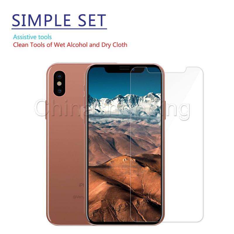 Film de protection de protecteur d'écran pour iPhone 12 11 Pro Max pour iPhone X XS MAX 8 7 6 Plus Samsung J3 J7 Prime 2018 LG Stylo 4 Verre trempé