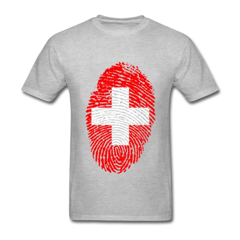 Switzerland Flag Fingerprint T Shirts Women Men Custom Printing Services  Short Sleeve Cotton Large Size Leisure T Shirt Shop Online T Shirts T Shirt  From ... 66bd4221b6