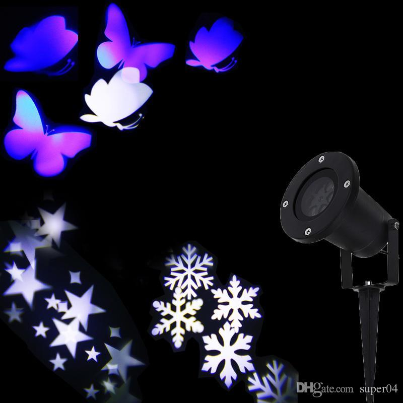 2018 christmas lights outdoor led snowflake projector light star projector butterfly light waterproof snow laser christmas lights from super04