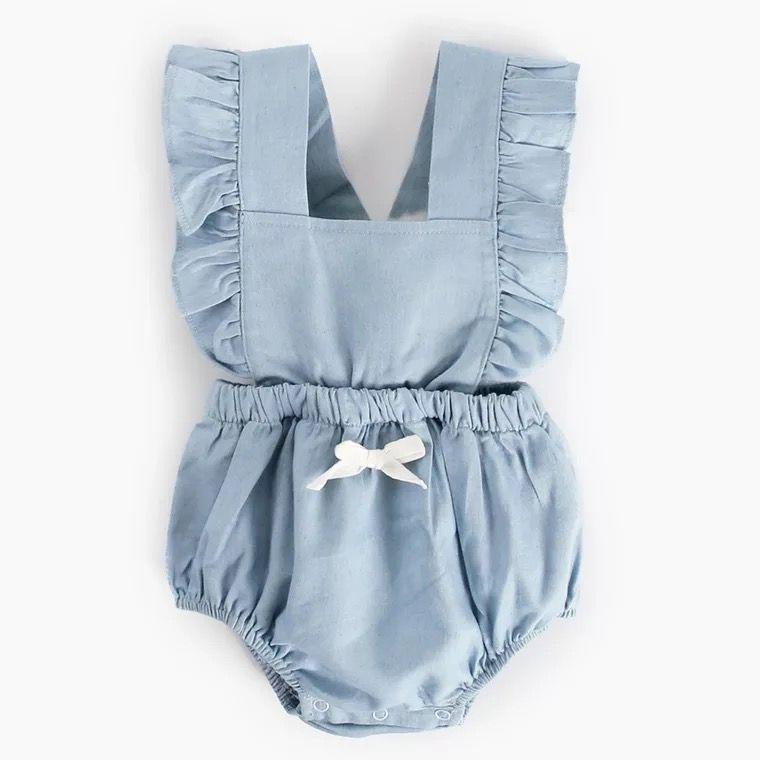 e574519c744d 2018 Ins Hot Selling Baby Girl Denim Bodysuit Infant Toddlers Summer ...
