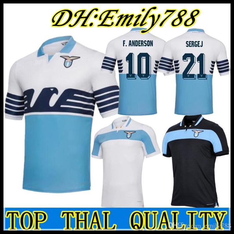 ee1196fc07c 2019 2018 Lazio Home Soccer Jerseys 18 19 F.ANDERSON LUCAS KISHNA BASTA D  JORD JEVIC KEITA IMMOBILE LULIC Football Shirts Uniform Kits Maillots From  ...