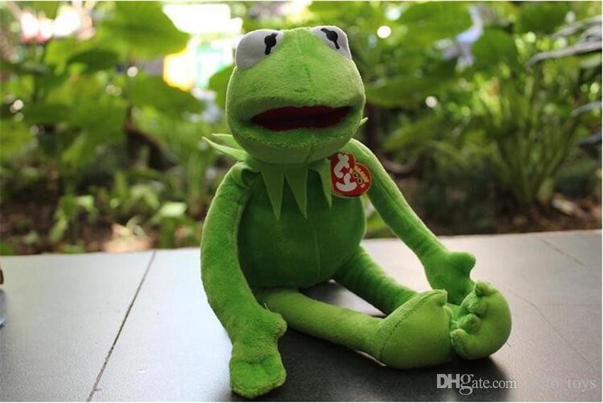 40cm 커밋 봉제 완구 TY 비니 야유 세서미 스트리트 장난감 개구리 인형 커밋 장난감 봉제 인형 개구리 인형