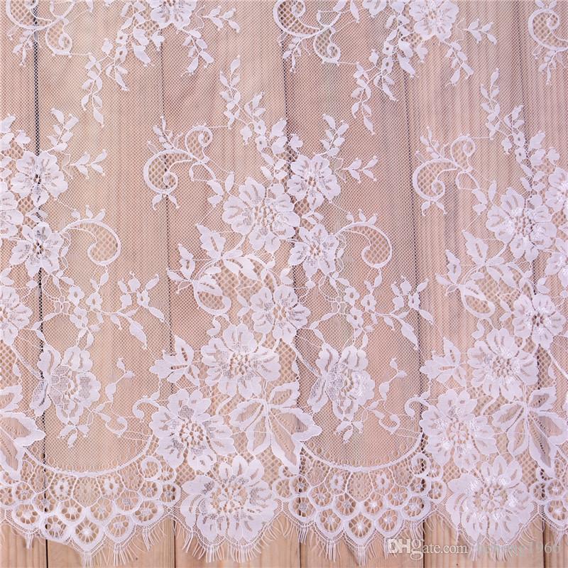 8205f7935 Compre Tecido Rendas Bordado Roupas Dyeable Branco Preto Diy Francês Cílios  Lace Tecido Requintado Roupas Vestido De Noiva Acessórios 25xs Ff De  Hehong1966, ...