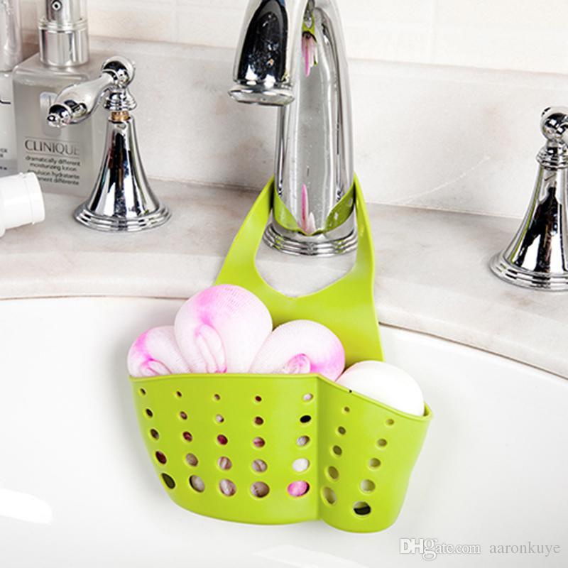 2018 Kitchen Sink Shelving Bag Dish Cloths Rack Suction Sponge Hanging Drain Holder Faucet Multipurpose Storage From Aaronkuye 2 12 Dhgate Com
