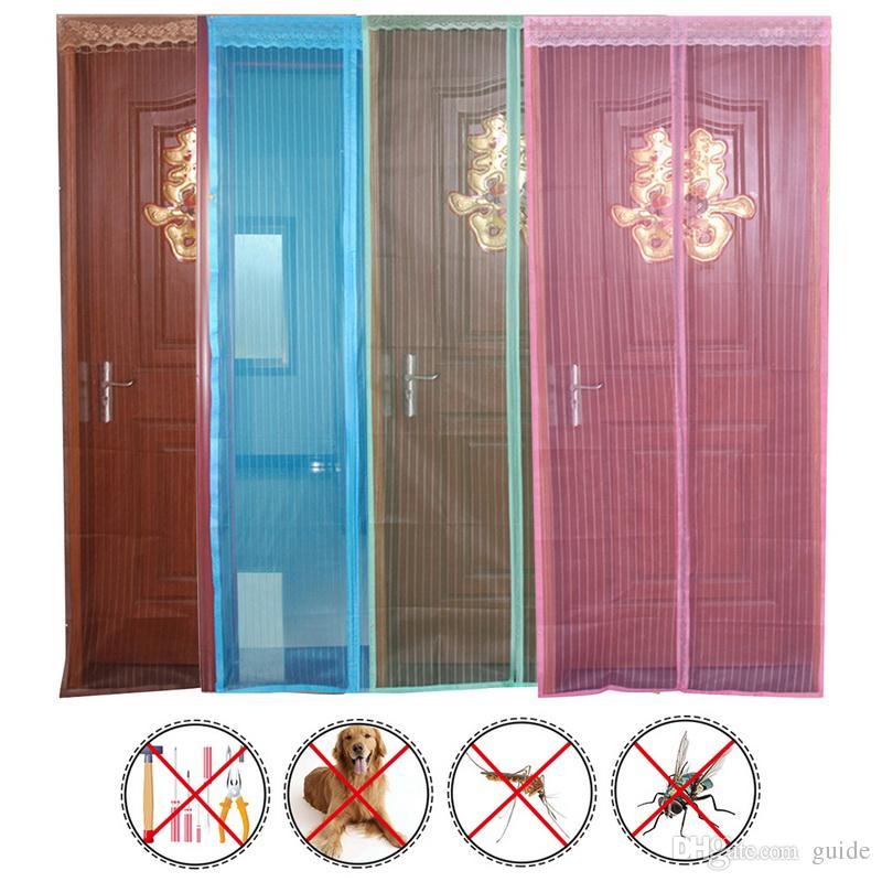 6 Styles Mosquito Door Net Mesh Curtain Bug Pet Patio Hands Free