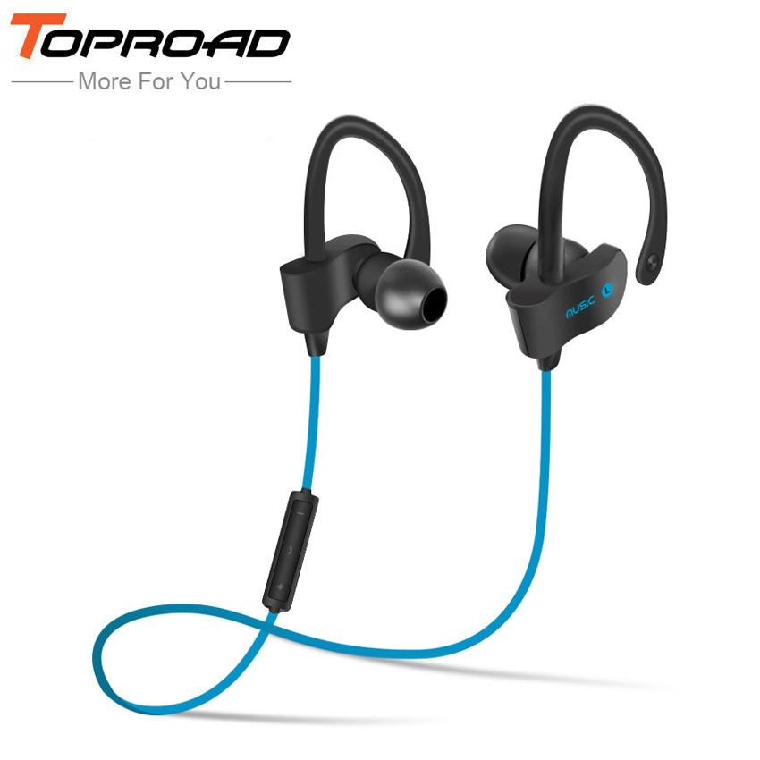 766e146d3a6 TOPROAD Wireless Bluetooth Earphones Auriculares Headset Bass Sound  Handsfree With Mic Fone De Ouvido for Xiaomi Mobile Phones High Quality  Headset Bass ...