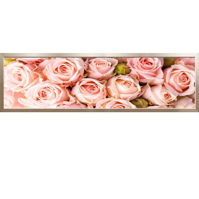 Compre 5D Diy Pintura Diamante Punto De Cruz Rosa Rosa Patrón ...