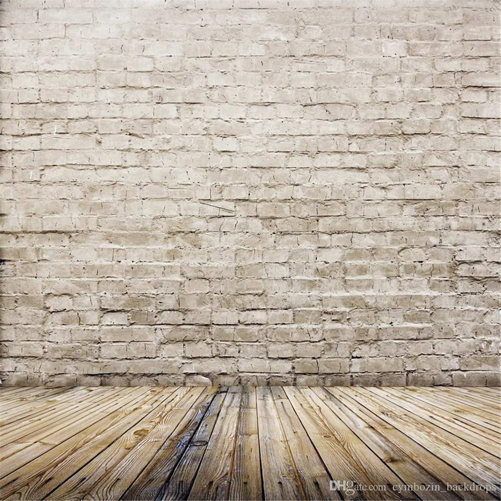2018 retro vintage brick wall photography backdrop wood floor baby