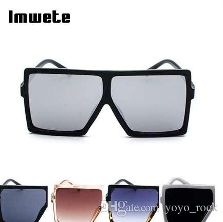 a43847c132 Imwete Oversized Sunglasses Women Retro Brand Designer Gradient Sun Glasses  Men Vintage Shades Eyewear Big Frame Glasses Cheap Eyeglasses Online  Sunglasses ...