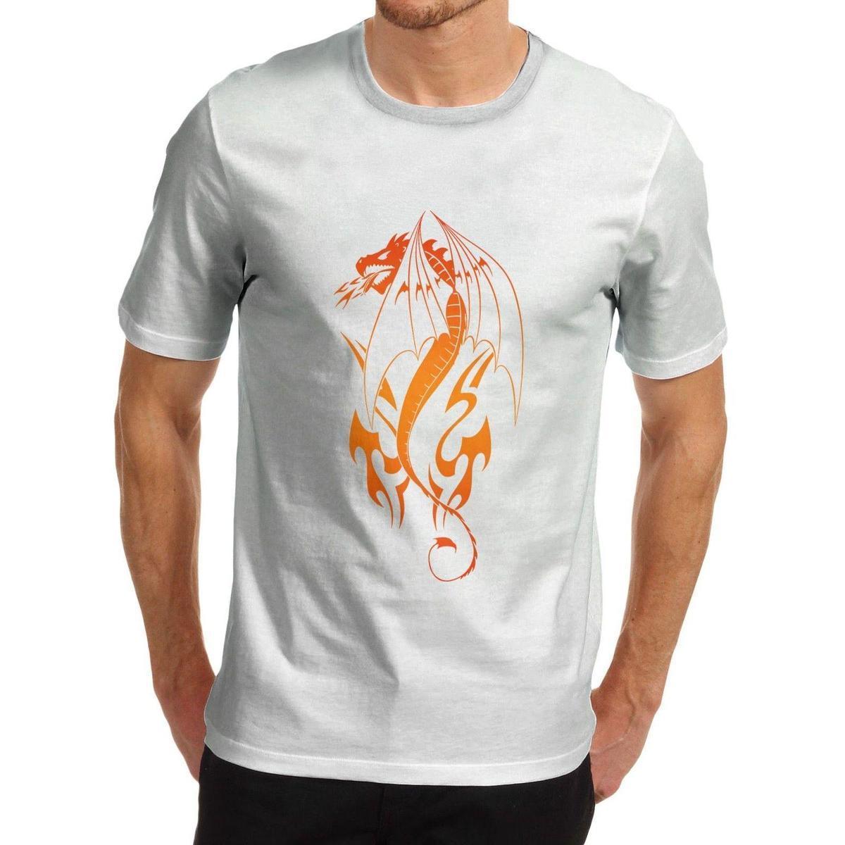 c23e8e932 Men'S Tribal Dragon Tattoo Design Printed T Shirt Awesome T Shirt Design  Shirt And Tshirt From Lijian51, $12.08| DHgate.Com