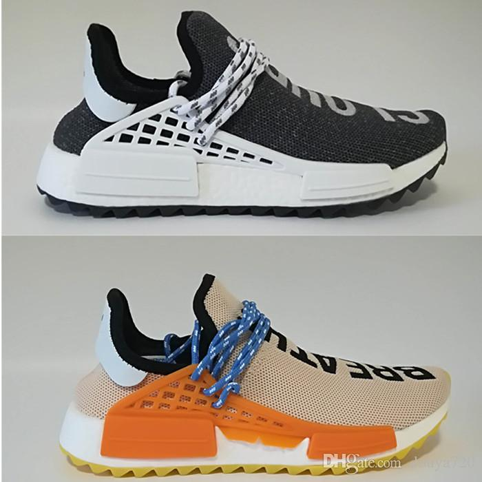 d808875da1de With Shoe Box Human Race Pharrell Williams Hu Trail Men Womens Trail  Running Shoes Ink Core Black Red Sports Shoes Sneaker 36 47 Shoes For Sale  Cheap Shoes ...