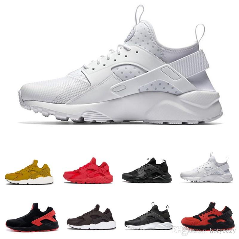 Huarache 4.0 1.0 Classical Triple White Black red mens women Huaraches Shoes Huaraches sports Sneakers Running spikes track Shoes