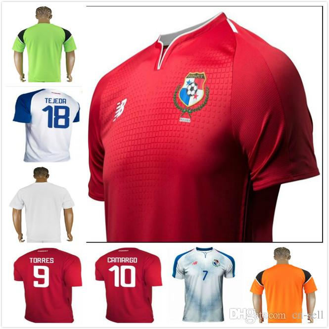 7d00d2f3866 2019 Custom 2018 World Cup Panama Soccer Jerseys CAMARGO B. PEREZ TORRES 18  19 Panama National Home Away Goalkeeper Football Shirts Men Youth Lad From  Cn ...