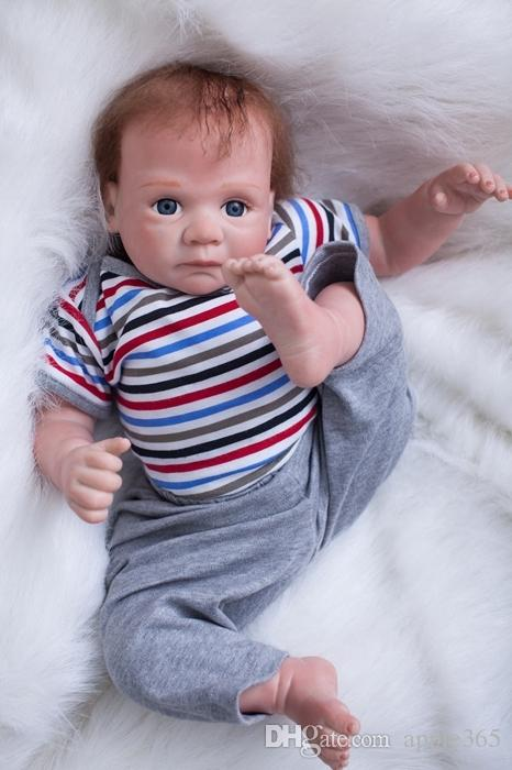 50cm/20 inch Handmade Reborn Baby Doll Girl Newborn Life like Soft Vinyl silicone Soft Gentle Touch Cloth Body Magnetic pacifier/YDK-25R2