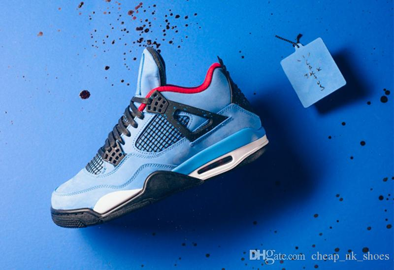 New Travis X 4 4s Cactus Jack Men Basketball Shoes Houston