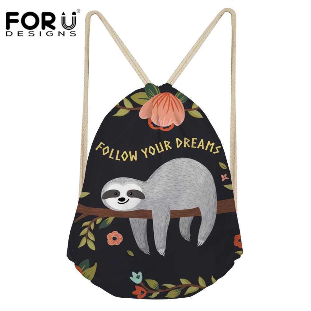 690432c93 Compre FORUDESIGNS Sloth 3D Printing Drawstring Bag Para Mujer Fashion  Lightweight Travel Daysuit Mochila School Girls Cute Backpack A $36.94 Del  Arrownet ...