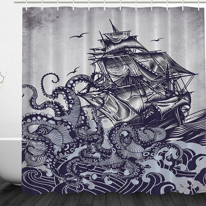 Mildew Resistant Shower Curtain Fabric 72x72 Tree Design Peva