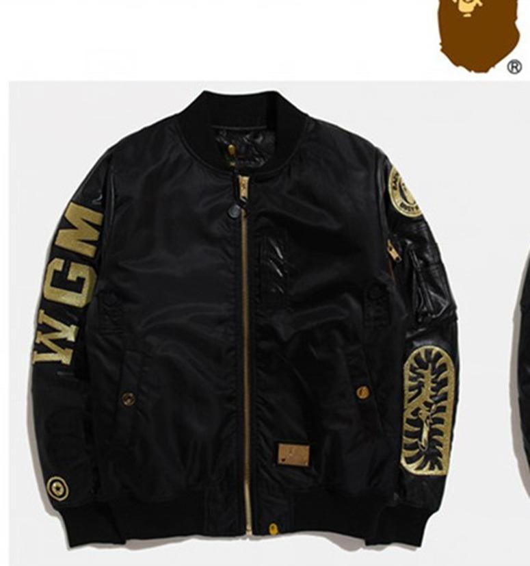 Rembourré Noir Veste Manteau Broderie Style Épaissie Ashion D Coton Fil Air Marque Or Vêtements Décontracténouveau Homme Force BWdCoerx