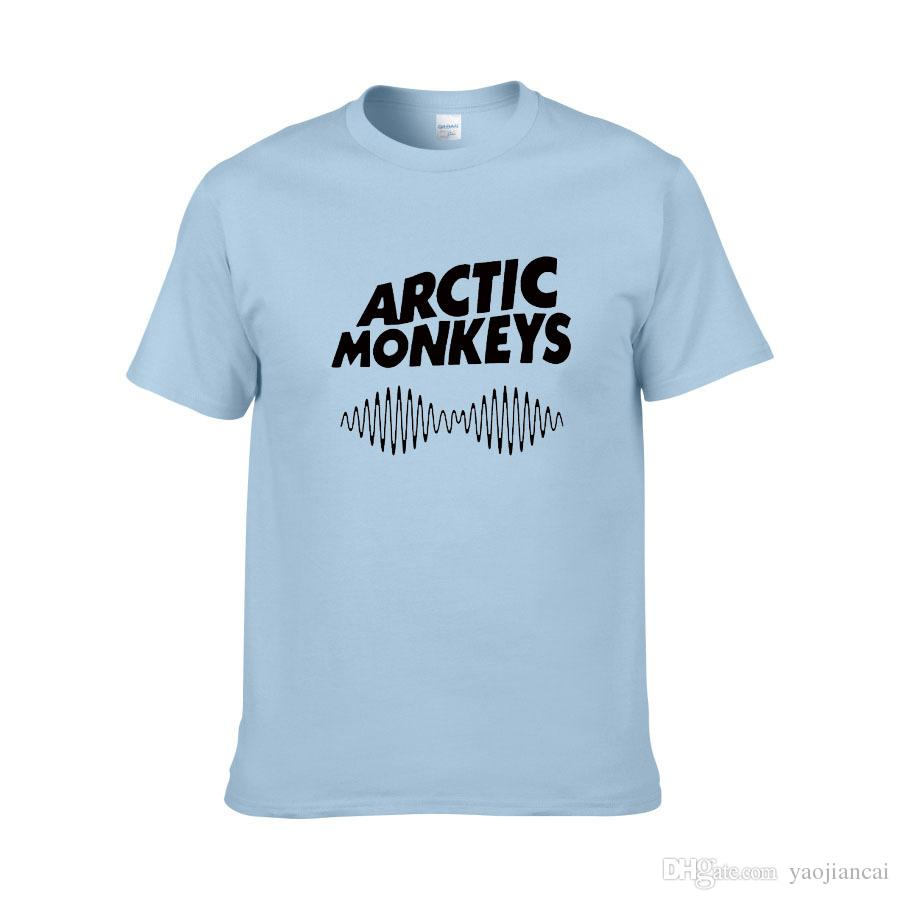 2018 Hot Arctic Monkeys Lettere Stampa T-shirt uomo donna in cotone Camicia casual Lady White Black Top Tee