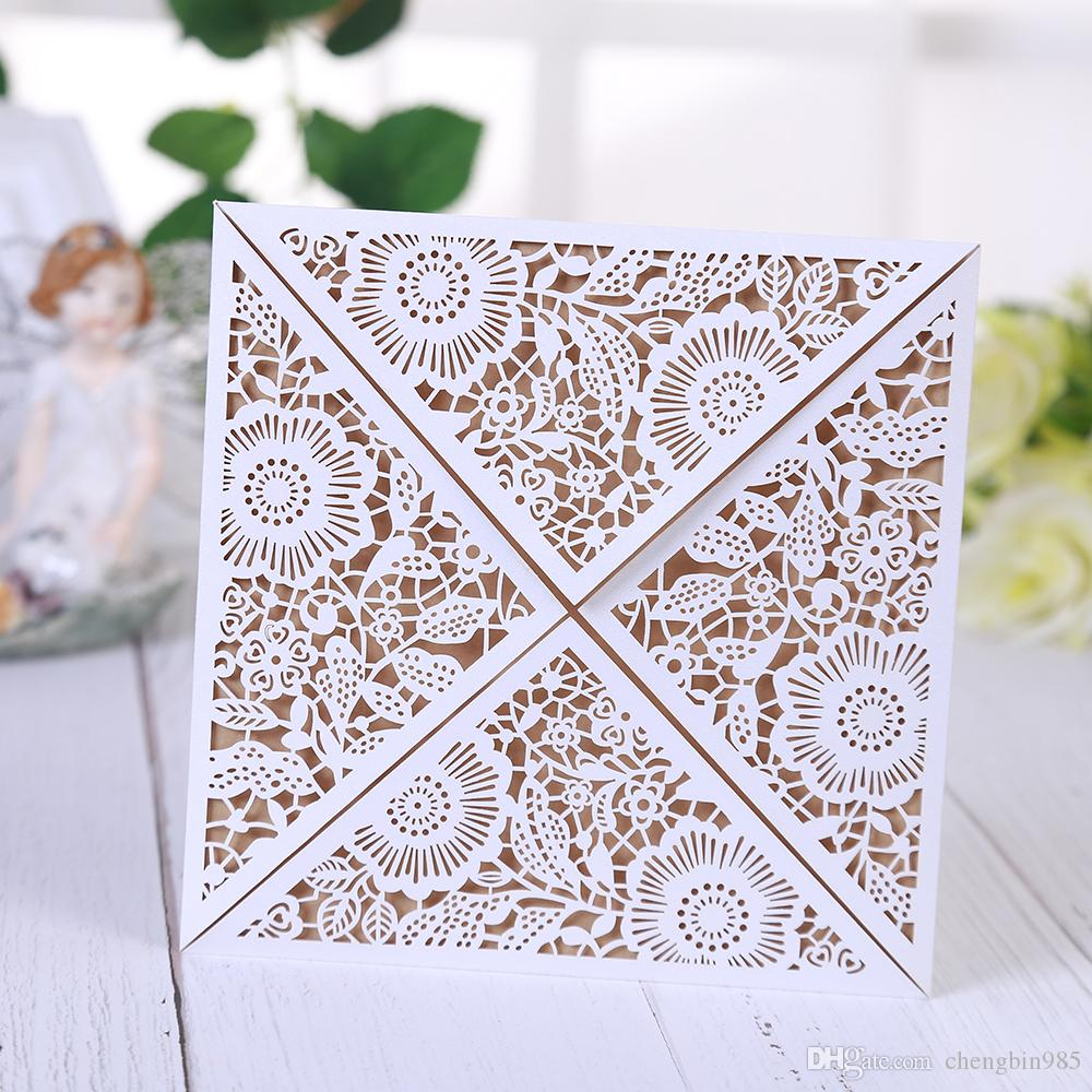 Laser Cut Thank You Cards Rustic Wedding Invitations Elegant 2018 Mr ...