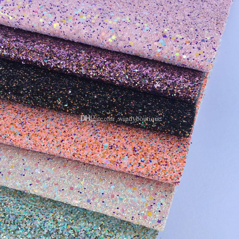 Wholesale shoes materials glitter leather for lady shoes and handbags cellphone cover glitter fabric bright and colorful decorations