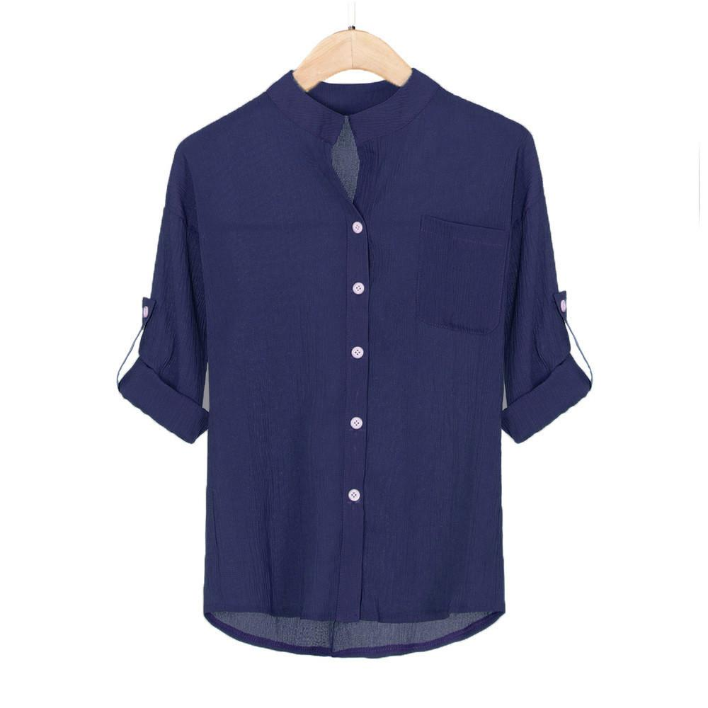 f6c0aedfef3d 2019 Vintage All Match High Quality Women Adjustable Sleeve Blouse Cotton  Linen Plus Size Tops Casual Sheer Button Down Shirt From Mangcao, $34.8 |  DHgate.