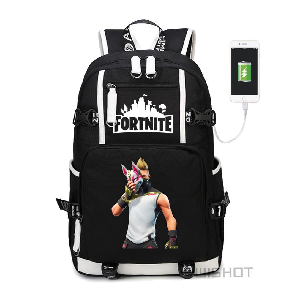 wishot fortnite battle royale bag lama drift skin backpack llama shoulder travel school bag with usb charging port laptop bags gregory backpacks army - fortnite lama skin