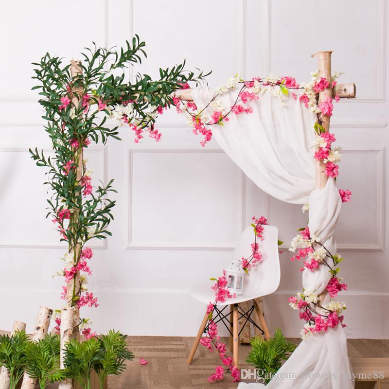2019 Wedding Arch Artificial Cherry Blossom Tree Vine Artificial