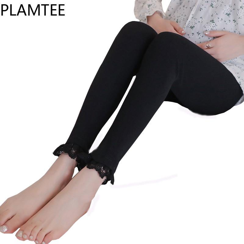 Compre Plamtee Polainas De Costura De Encaje Para Mujeres ...