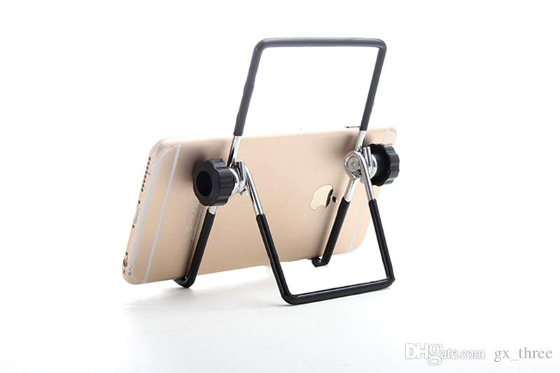 Iron Metal Multi-angle Adjustable Folding 10 inch Mount Holder PC Stand For iPhone for iPad A13 Q88 Android tablet Hotsale